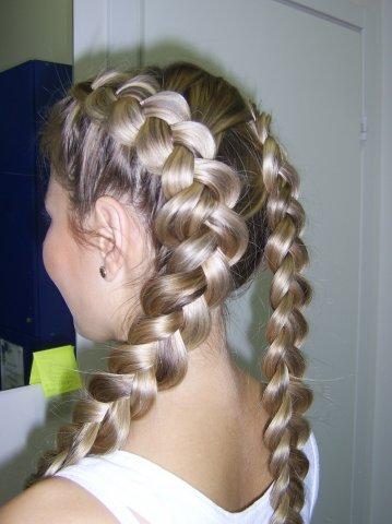 6: Плетение кос , причёски с элементами плетения.